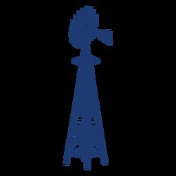Torre do moinho de vento do quintal azul