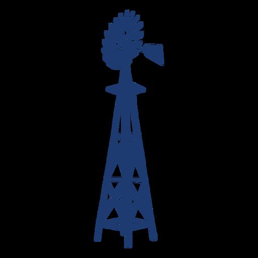 Backyard windmill tower blue
