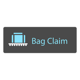 Bag claim airport sign icon