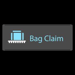 Ícone de placa de reclamação de bagagem no aeroporto