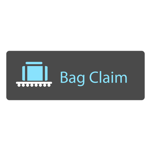 Icono de signo de aeropuerto de reclamo de bolsa