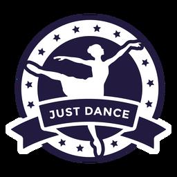 Insignia redonda de ballet just dance