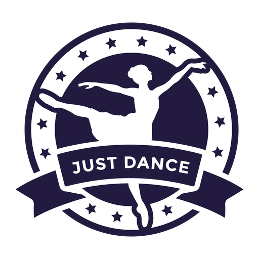 Ballet just dance round badge Transparent PNG