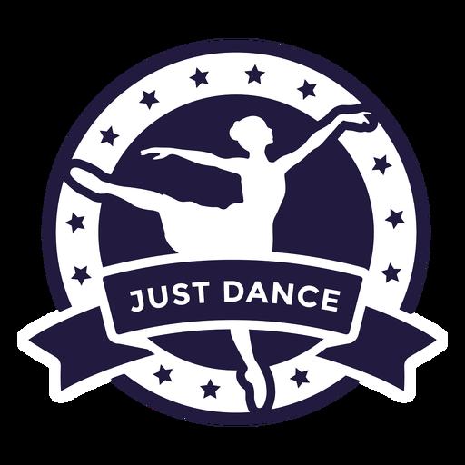 Insignia redonda de ballet just dance Transparent PNG