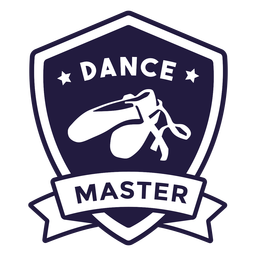 Ballet shoes dance master shield badge