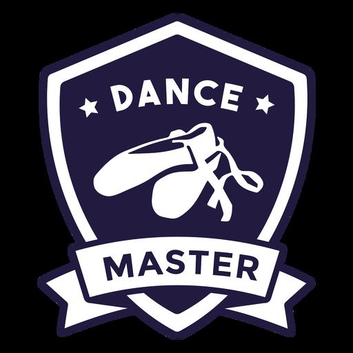 Ballet shoes dance master shield badge Transparent PNG