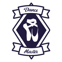 Ballet shoes pointe dance master diamond badge