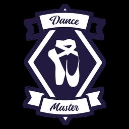 Sapatos de balé pointe dança mestre diamante crachá