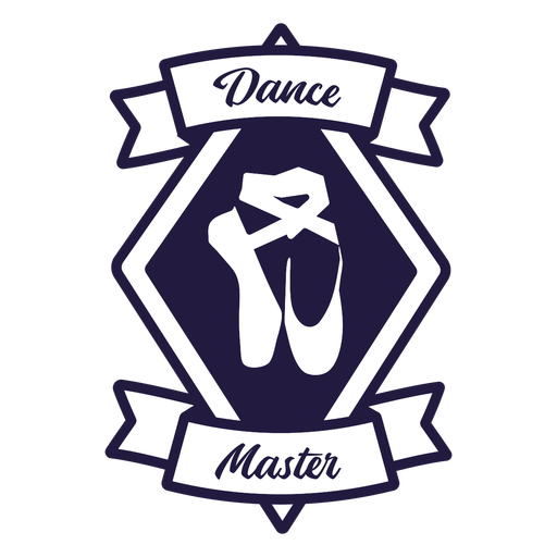 Zapatillas de ballet pointe dance master diamond badge Transparent PNG