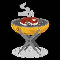 Churrasco cozinhar bife grelhado