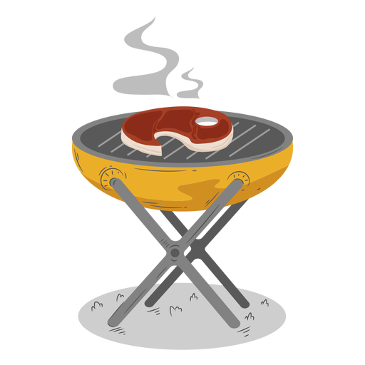 Barbacoa para cocinar filete a la parrilla