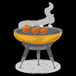 Muslo de pollo a la parrilla de barbacoa