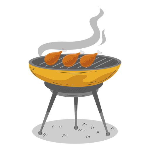 Bbq grill chicken drumstick