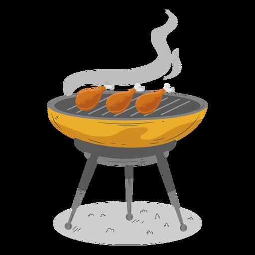 Muslo de pollo a la parrilla de barbacoa Transparent PNG
