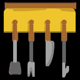Bbq tool set hanger