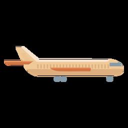 Icono de perfil de avión beige plano
