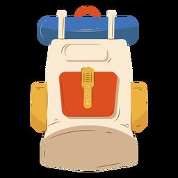 Acampamento de bagagem mochila bege