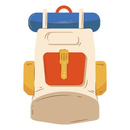 Beige backpack luggage camping