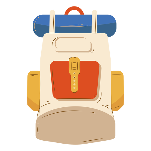 Beige backpack luggage camping Transparent PNG