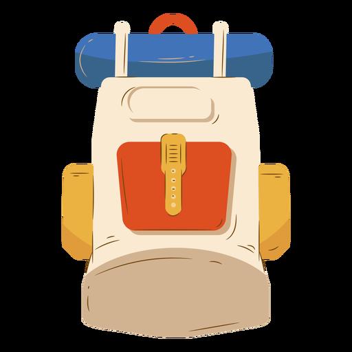Mochila beige equipaje camping
