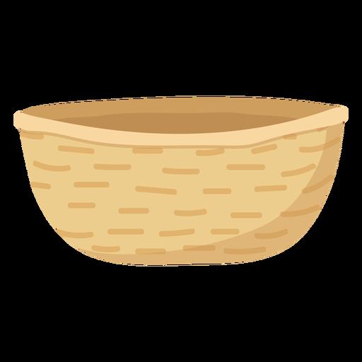 Beige basket flat illustration