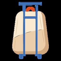 Plano de equipaje de mano beige