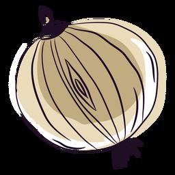 Beige hand drawn onion