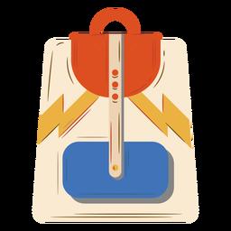 Beige orange blue backpack flat