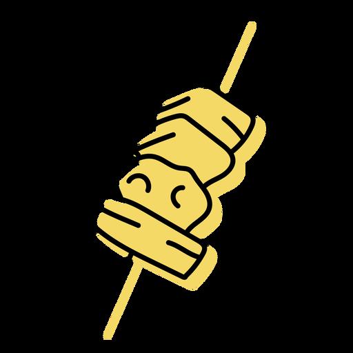 Beige skewer icon flat Transparent PNG