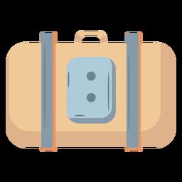 Equipaje maleta beige plano