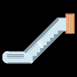 Escalera mecánica azul plana