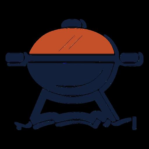 Icono de parrilla de barbacoa duotono azul rojo Transparent PNG