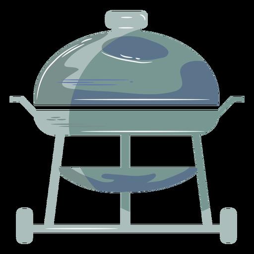 Blue round grill flat symbol Transparent PNG