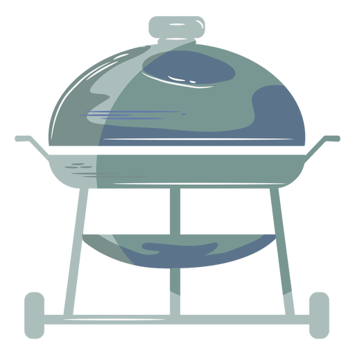 Blue round grill flat symbol