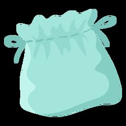 Símbolo plano de bolsa de corda azul