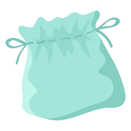 Símbolo plano de bolsa de cuerda azul