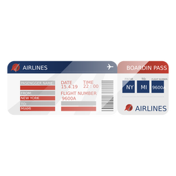 Boarding pass travel