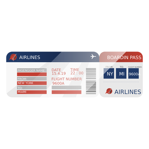 Viaje con tarjeta de embarque Transparent PNG