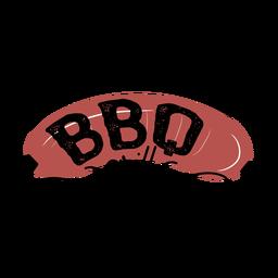 Letras de salchicha de parrilla de barbacoa marrón