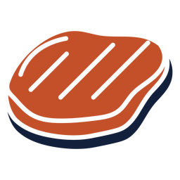 Brown blue duotone meat slab icon flat