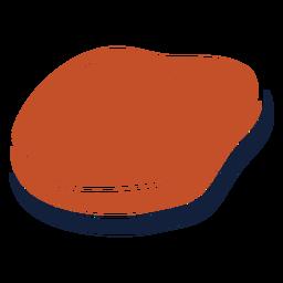 Icono de losa de carne duotono azul marrón plana