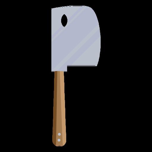 Cuchillo carnicero marrón plano