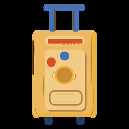 Marrón equipaje de mano plano
