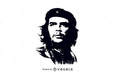 Vector libre de la cara de Che Guevarra