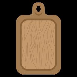 Placa de corte marrom plana