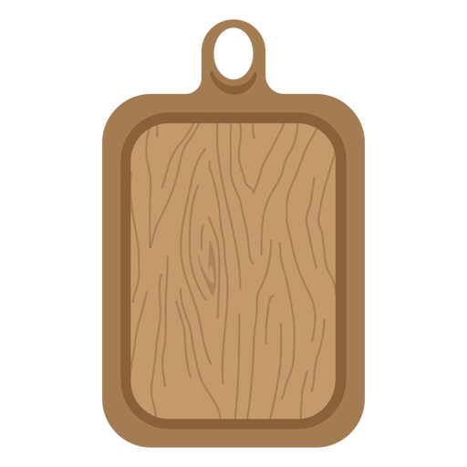 Tabla de cortar marrón plana