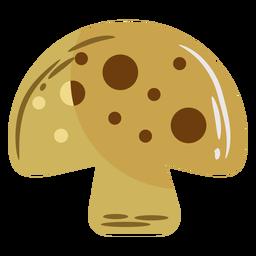 Brown mushroom flat symbol