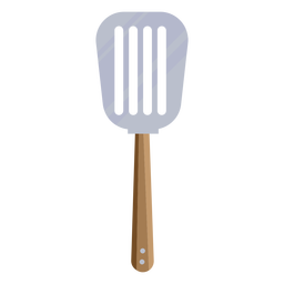 Brown spatula flat