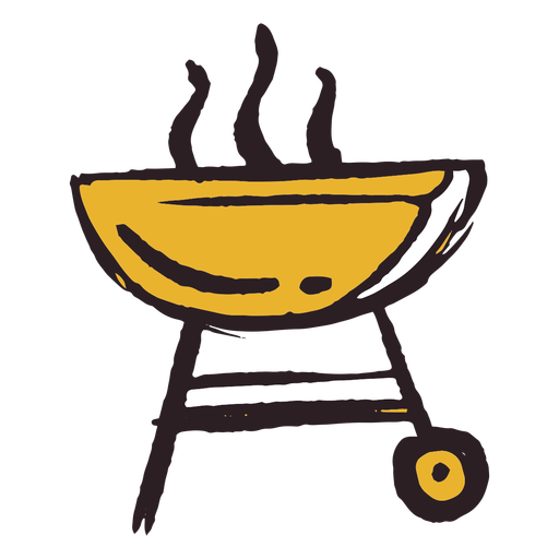 Brush stroke grill icon yellow Transparent PNG