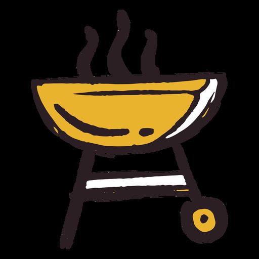 Brush stroke grill icon yellow